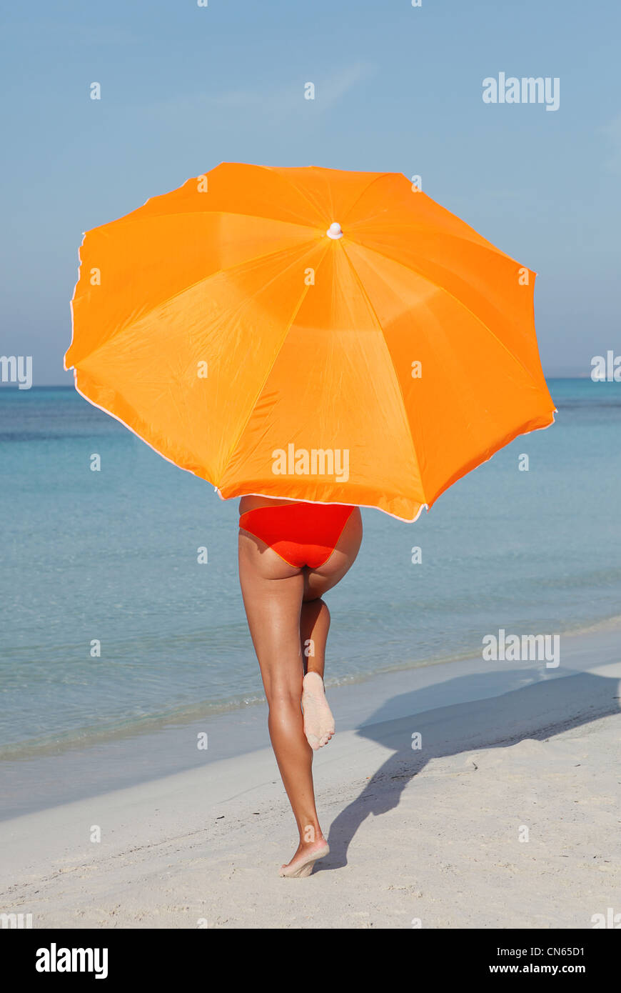 summer beach vacation - Stock Image