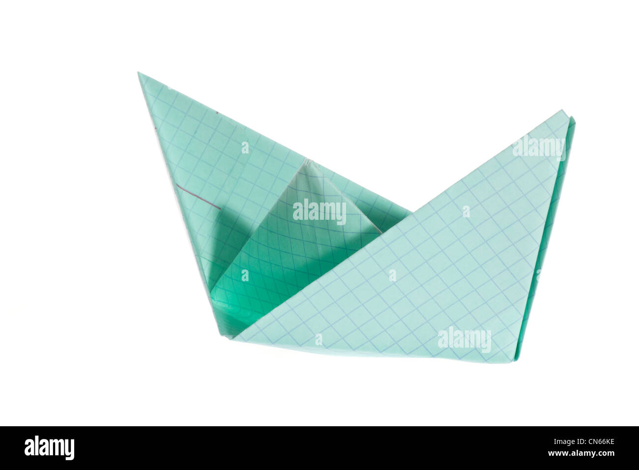 Paper Ship Photo On The White Background