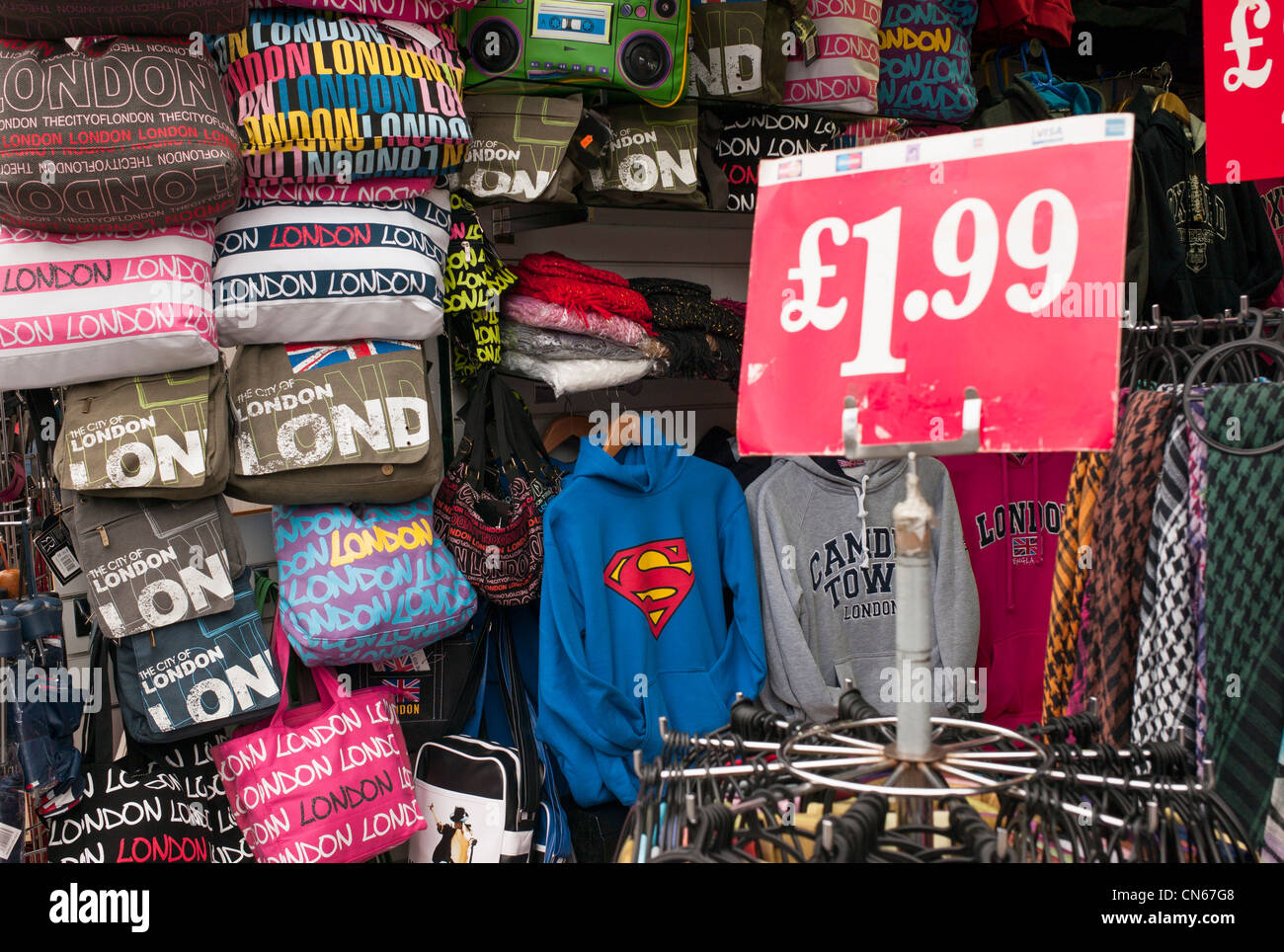 close up photograph of london souvenirs in shop in camden market stock photo 47466168 alamy. Black Bedroom Furniture Sets. Home Design Ideas