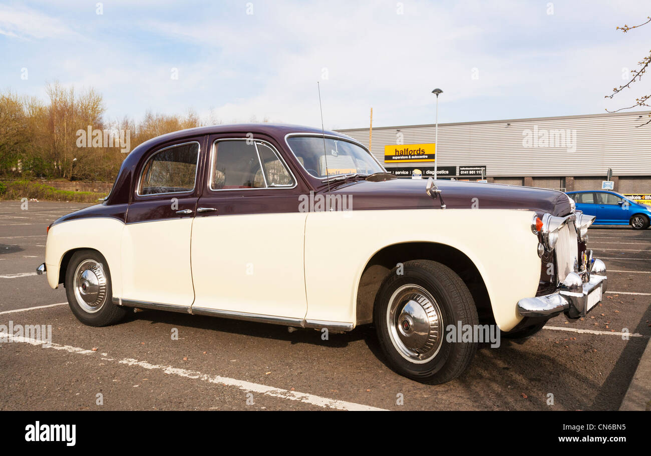 An old two tone Rover 80 a British classic car, Britain. - Stock Image
