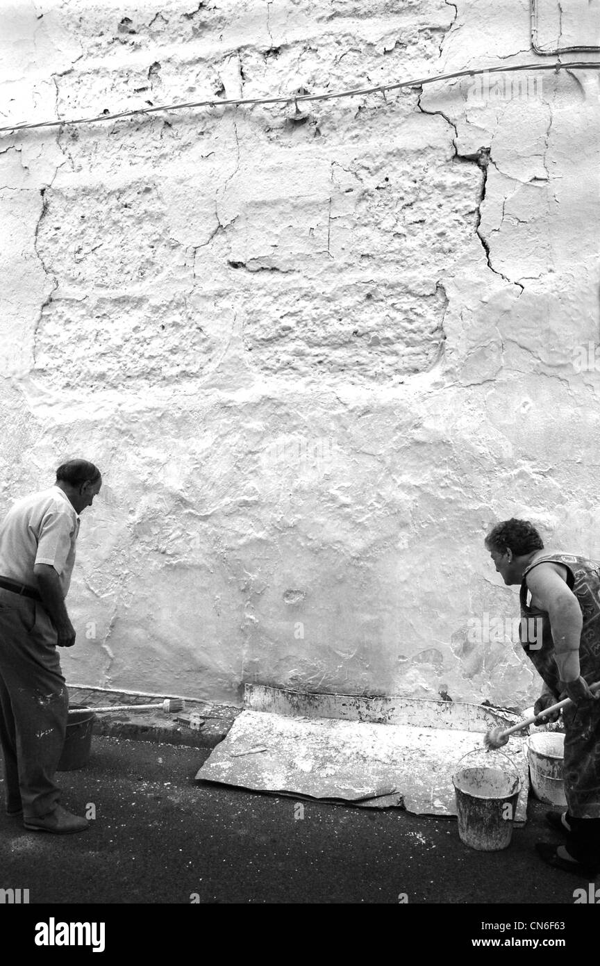 Whitewashing - Stock Image
