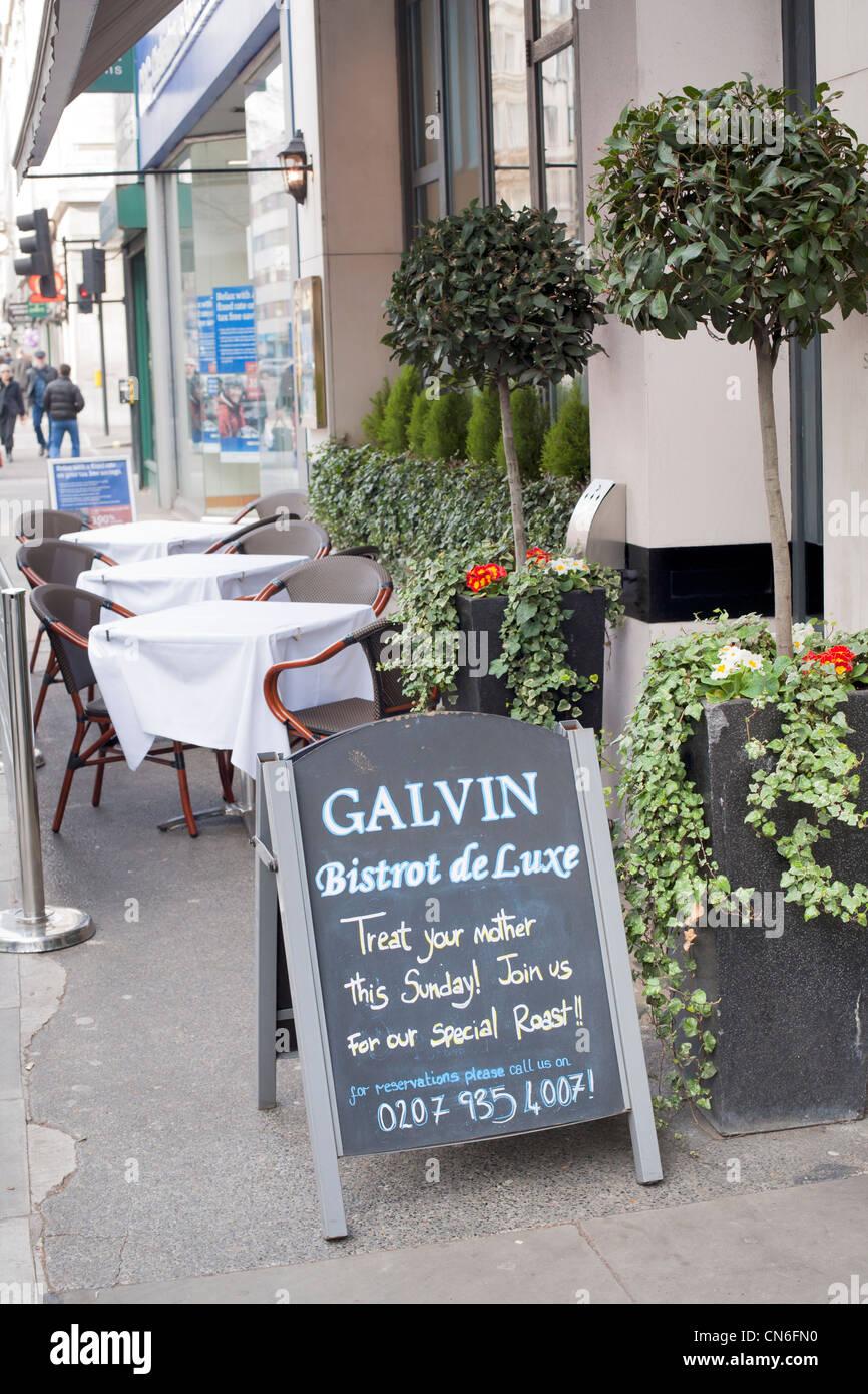Galvin Bistrot de Luxe, French Restaurant, Baker Street, ,, London, England; UK; Europe - Stock Image