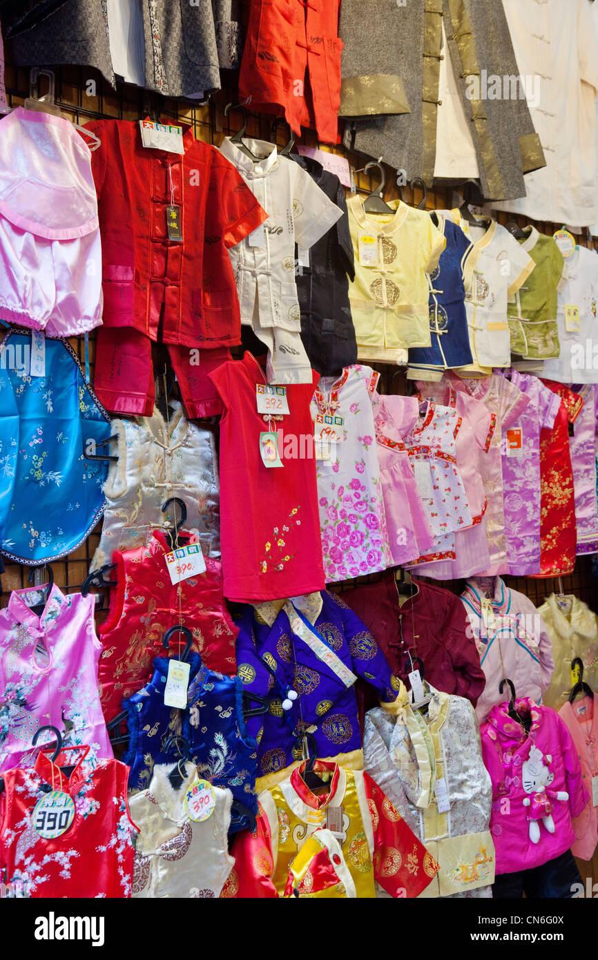 6bccdf598c7b Children s clothes on sale in Jishan Street Market Jiufen Taiwan ...