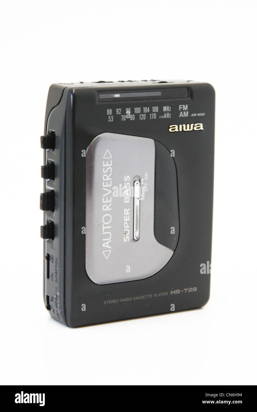 Walkman tape cassette aiwa made in japan - Stock Image