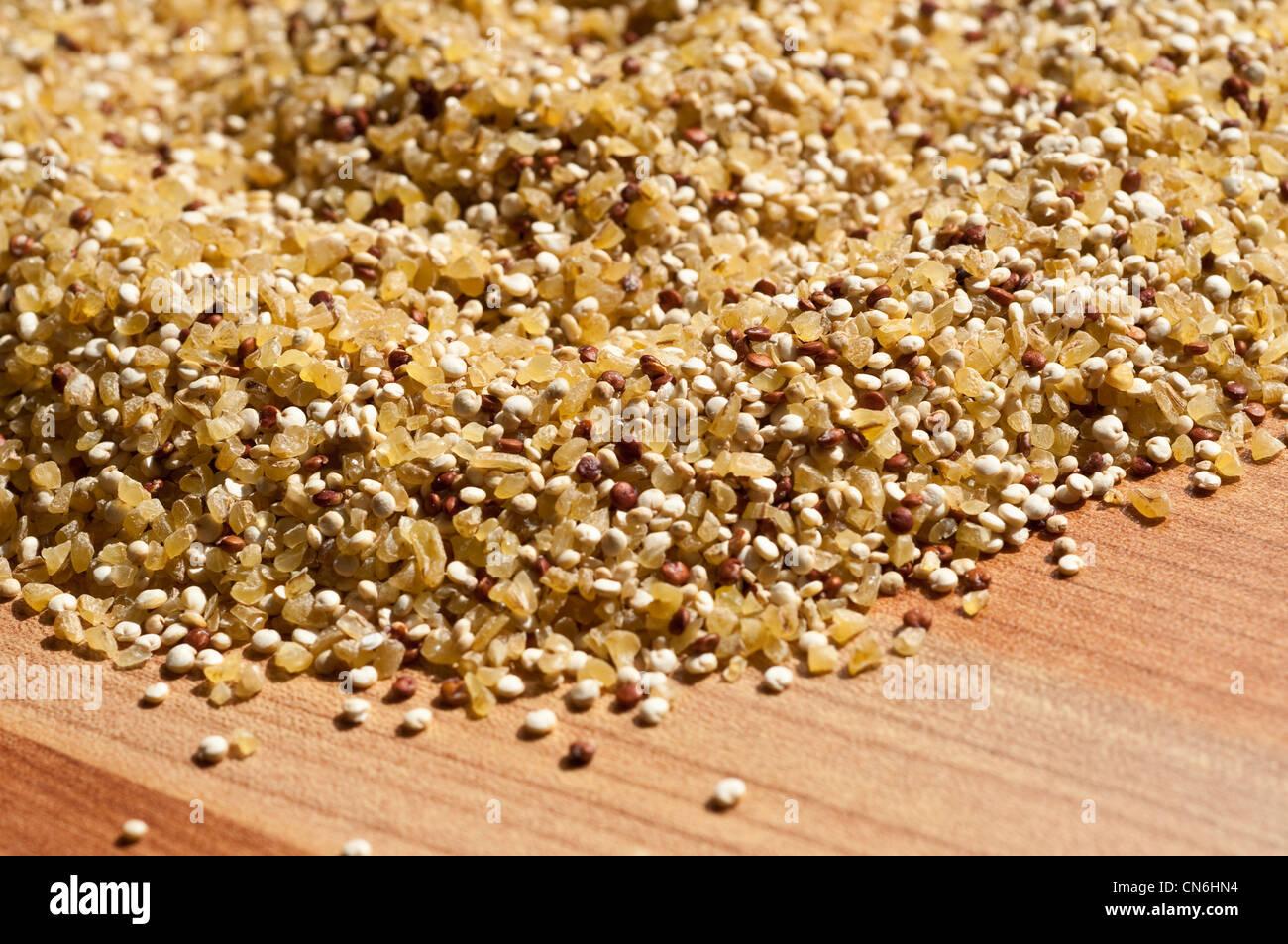 Red and white quinoa - Stock Image