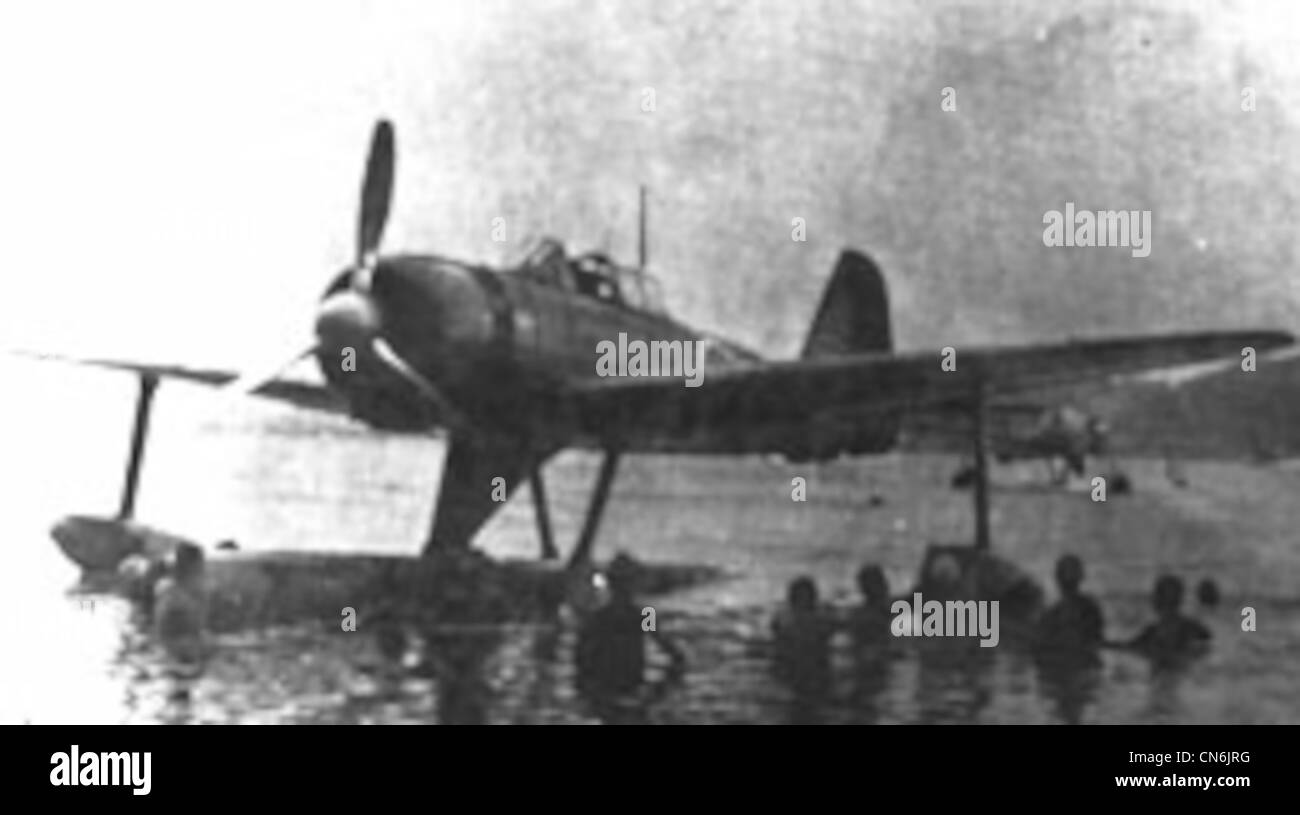 The Japanese A6M2-N floatplane version of the Zero did fairly well, suffering only a smal loss in its legendary - Stock Image