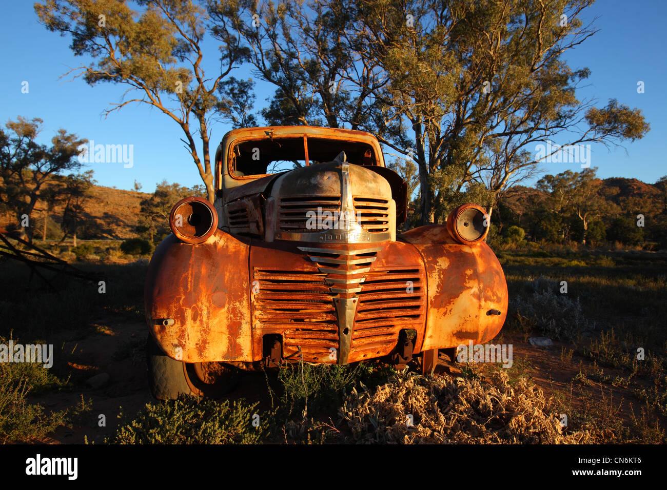 Old car in outback Australia. - Stock Image