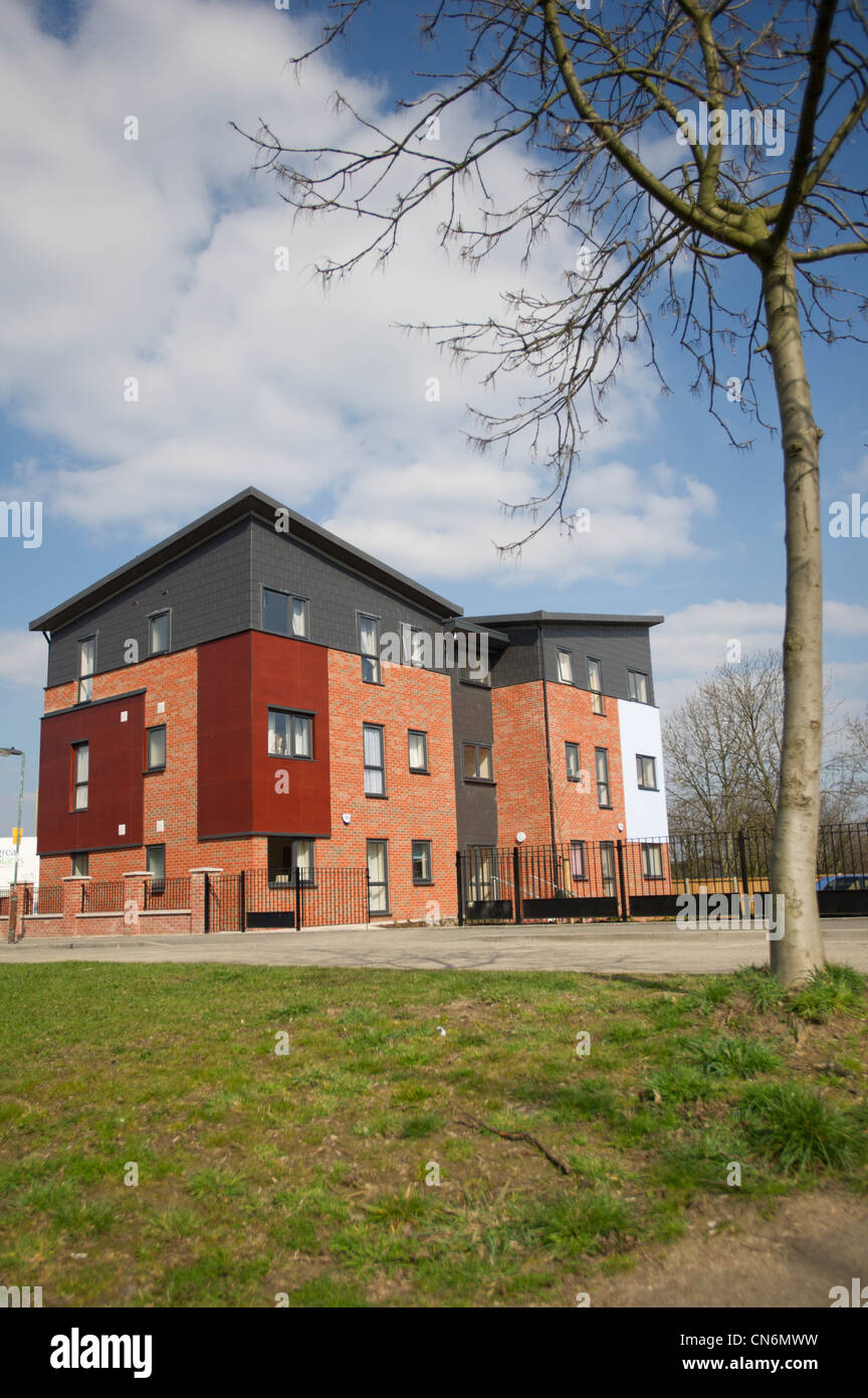 New build social housing Stock Photo