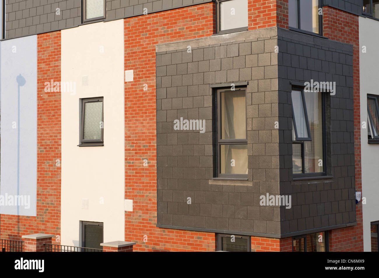 New build social housing - Stock Image