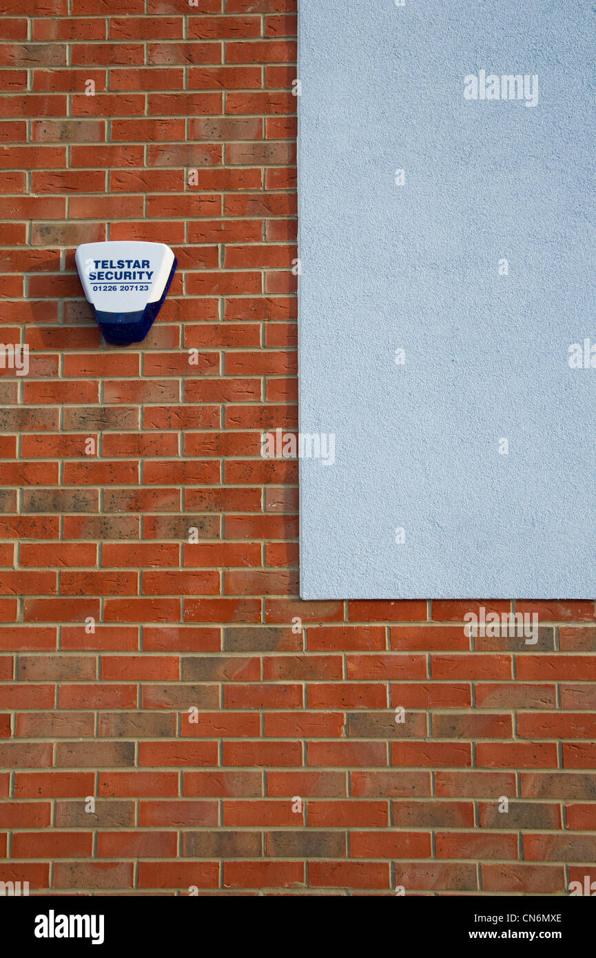 New build social housing architectural detail - Stock Image