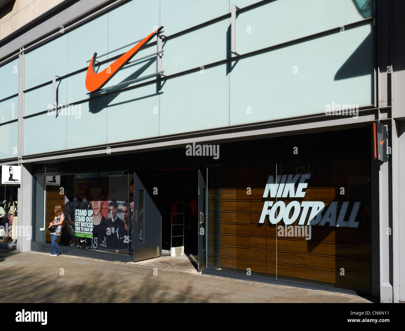 Nike store in Market Street Manchester UK