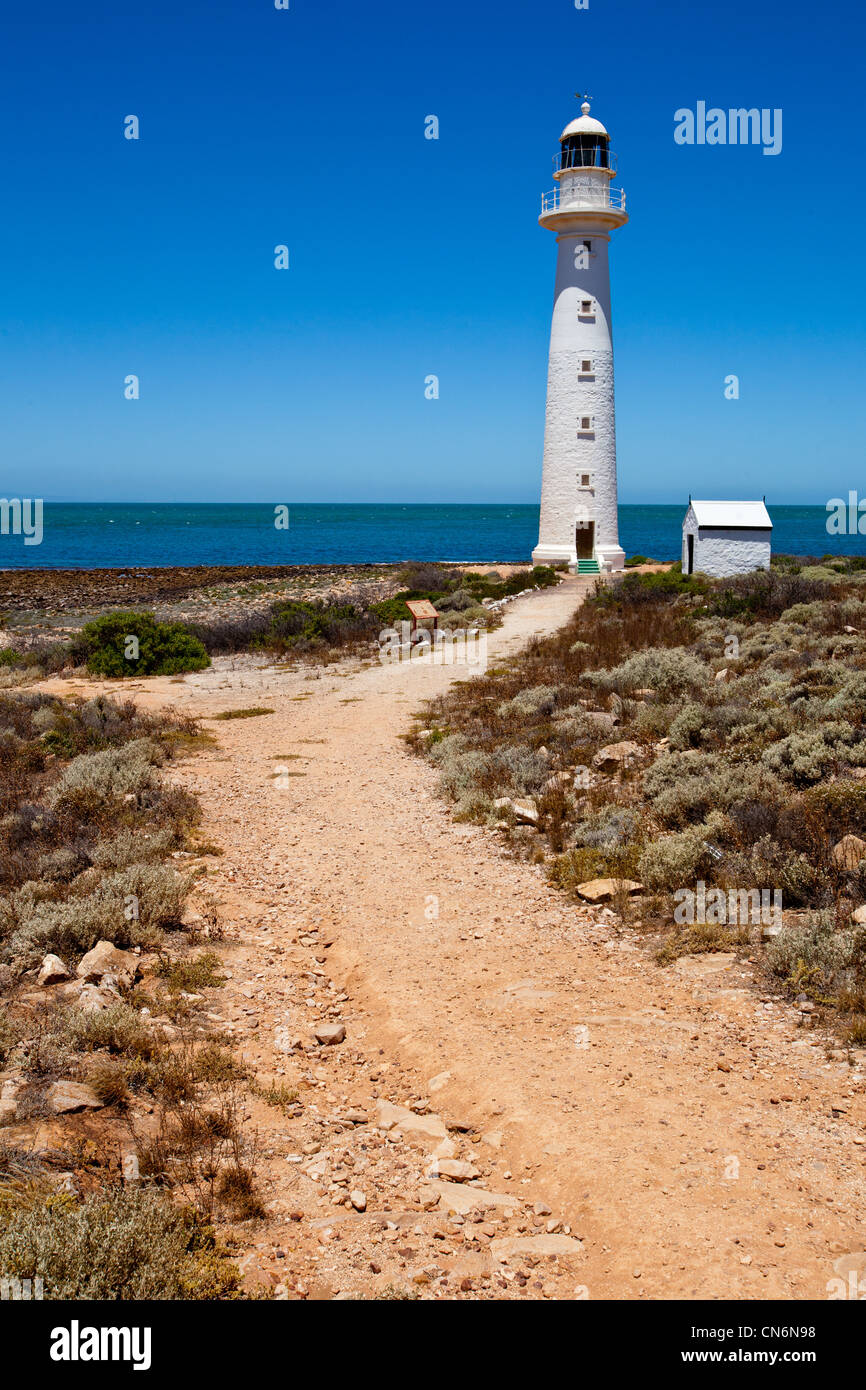 Point Lowly Light house. Eyre Peninsula. South Australia. - Stock Image