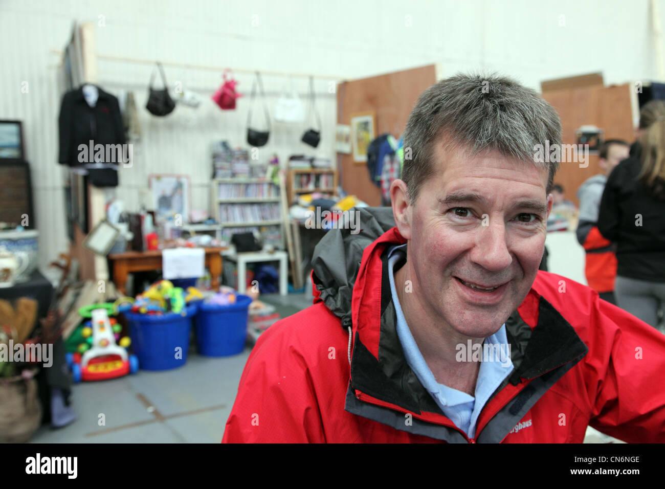 Robin Webb, organiser of Merchants Yard Car Boot Sale, Dublin, Ireland - Stock Image