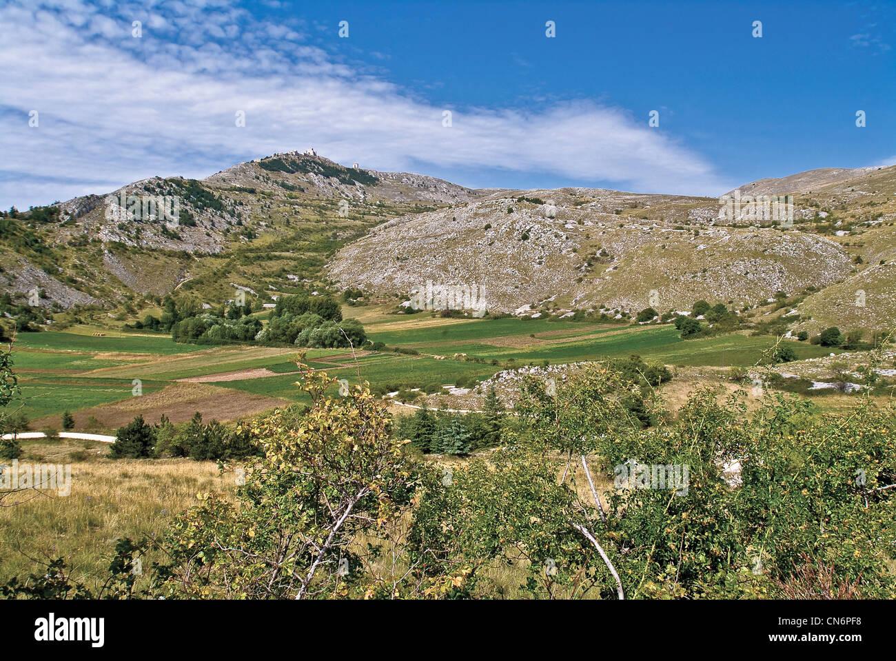 Europe Italy Abruzzi Gran Sasso e Monti della Laga Park landscape - Stock Image