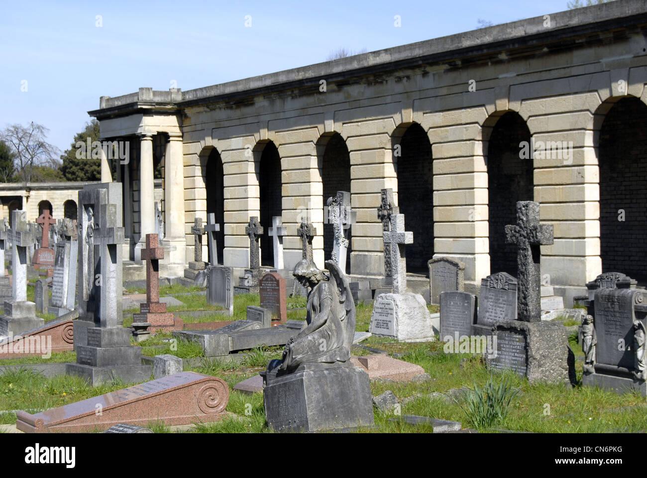 Old Brompton Cemetery Stock Photo