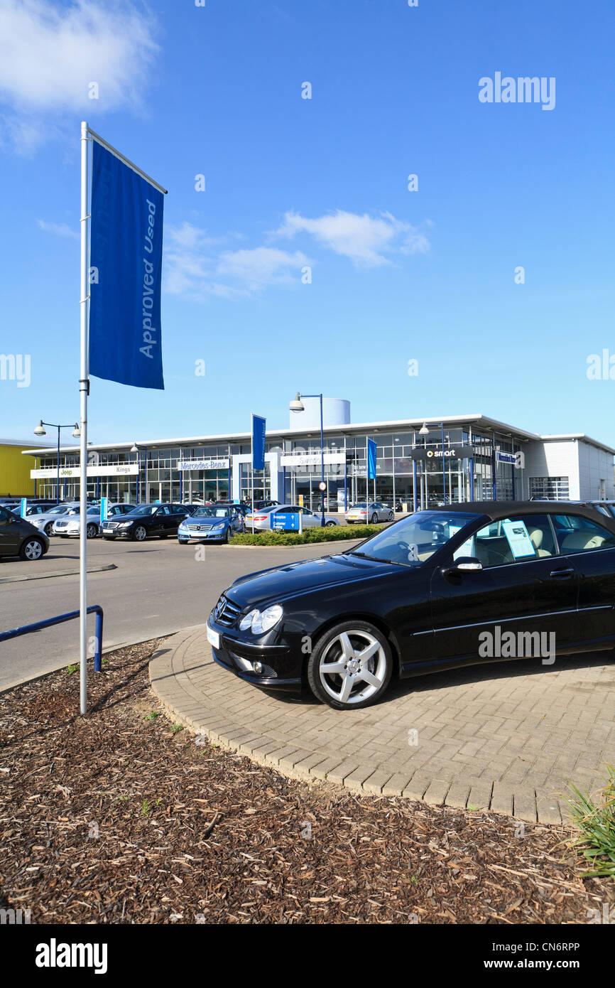 Mercedes Benz car dealer in Swindon UK Stock Photo