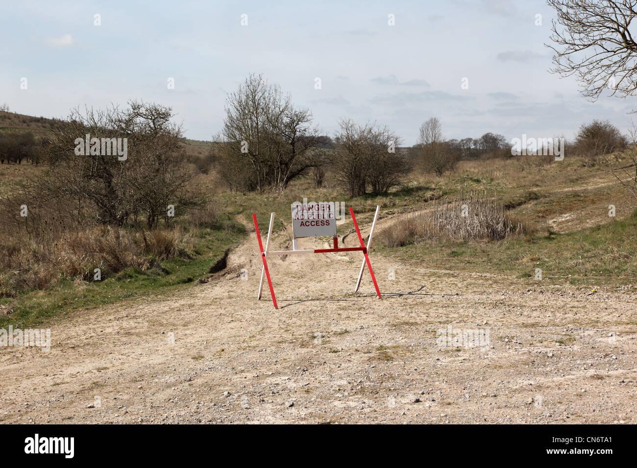 Salisbury Plain British Army training ground, Wiltshire, England - Stock Image