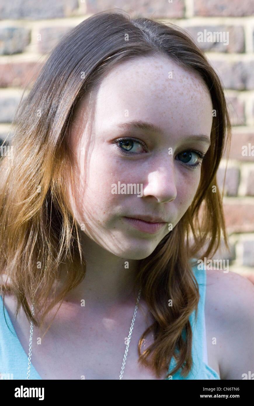 Portrait of teenage girl. - Stock Image