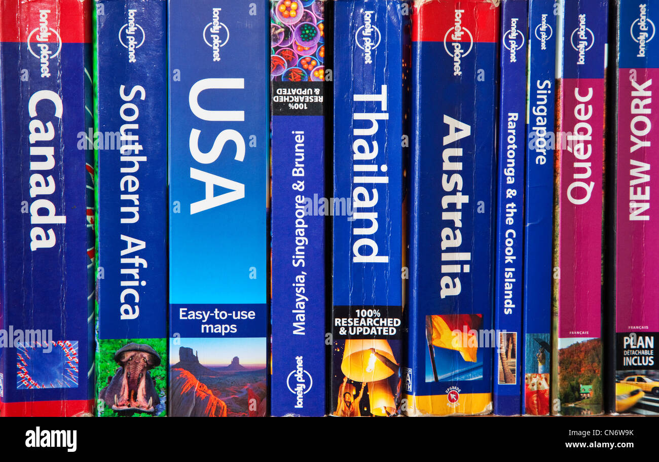 A Collection of Travel Guides - Stock Image