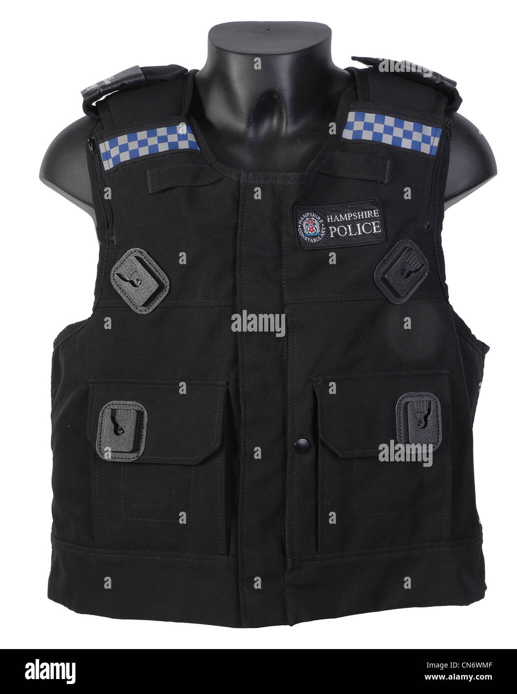 British police issue body armor - Stock Image