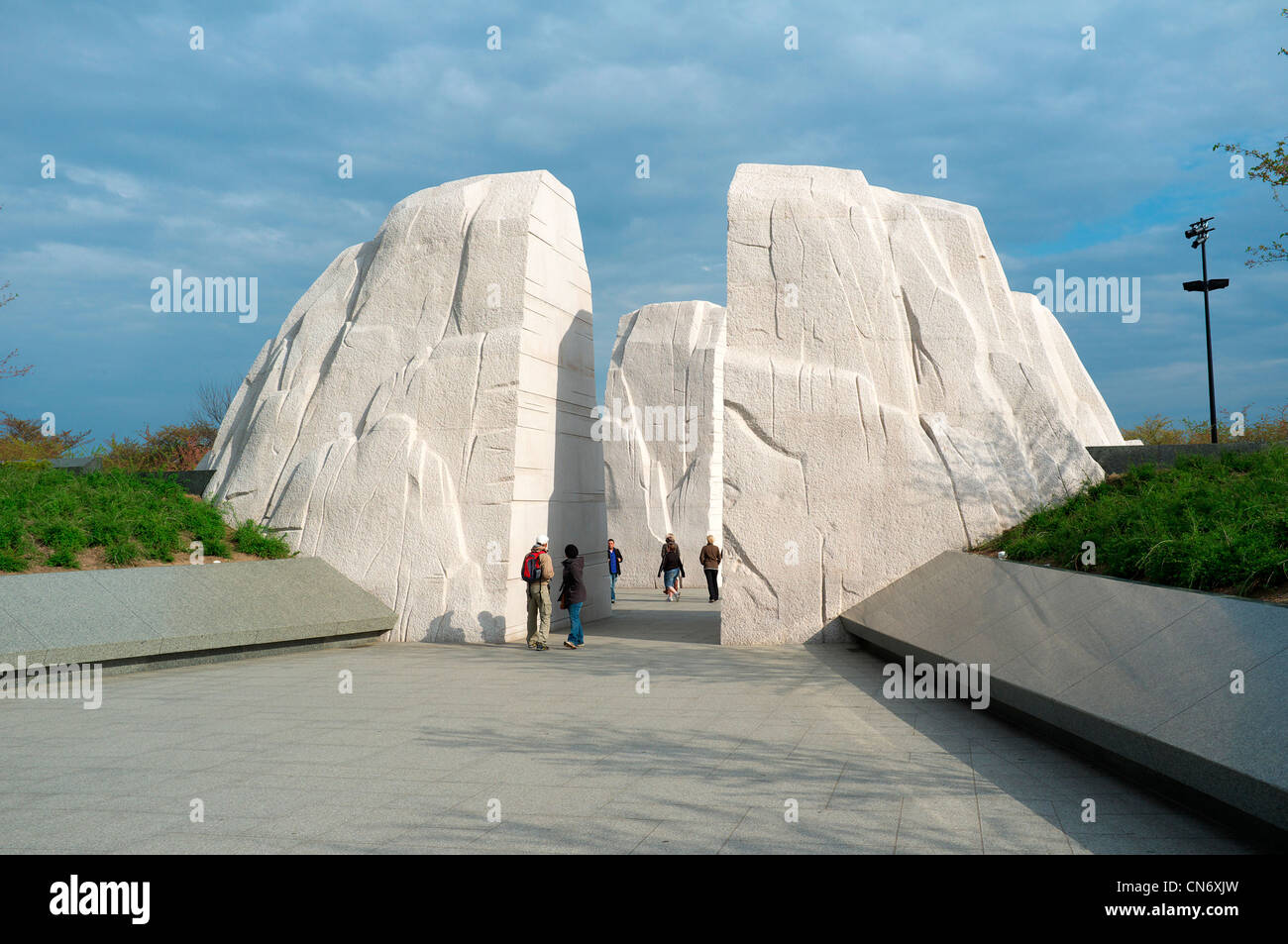 Entrance to the Martin Luther King Memorial in Washington DC - Stock Image