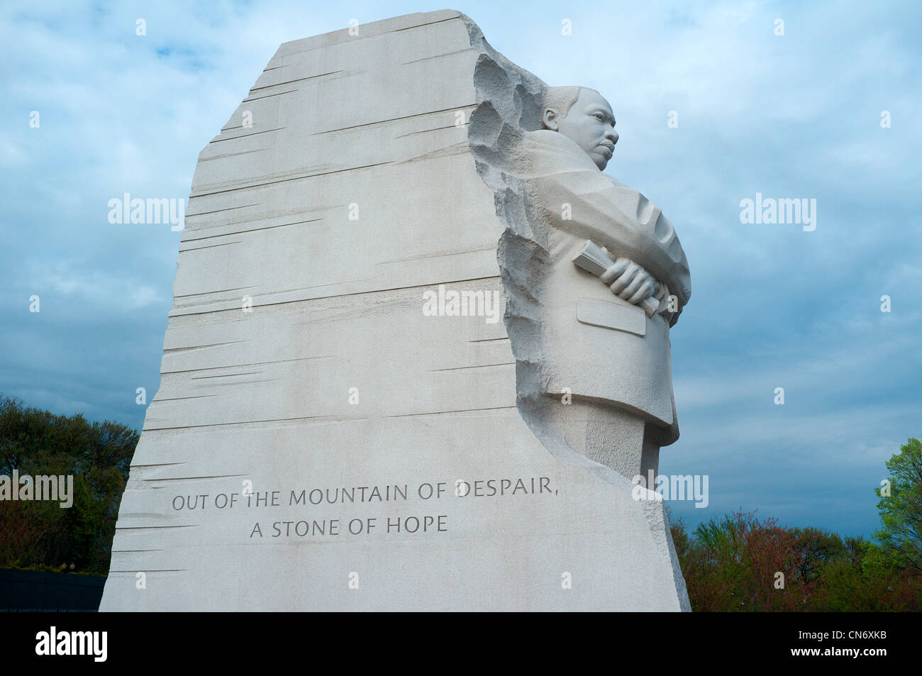 Sculpture of Martin Luther King Jr in MLK Memorial in Washington, DC Stock Photo