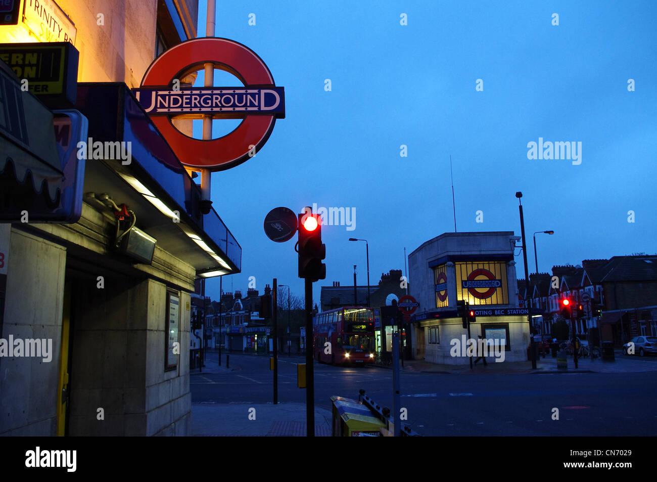 Tooting Bec Underground Station, London - Stock Image