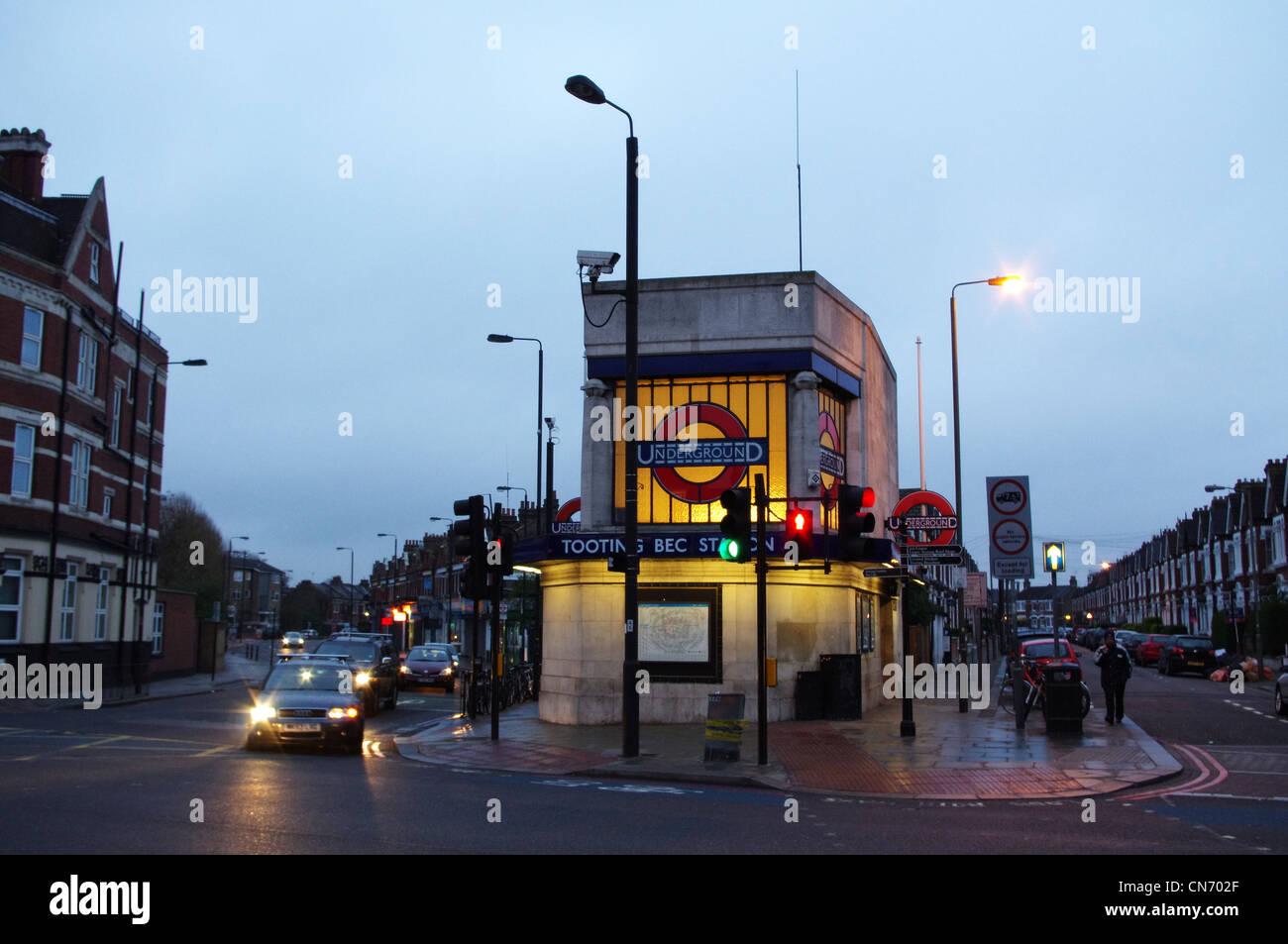 Tooting Bec Tube Station - Stock Image