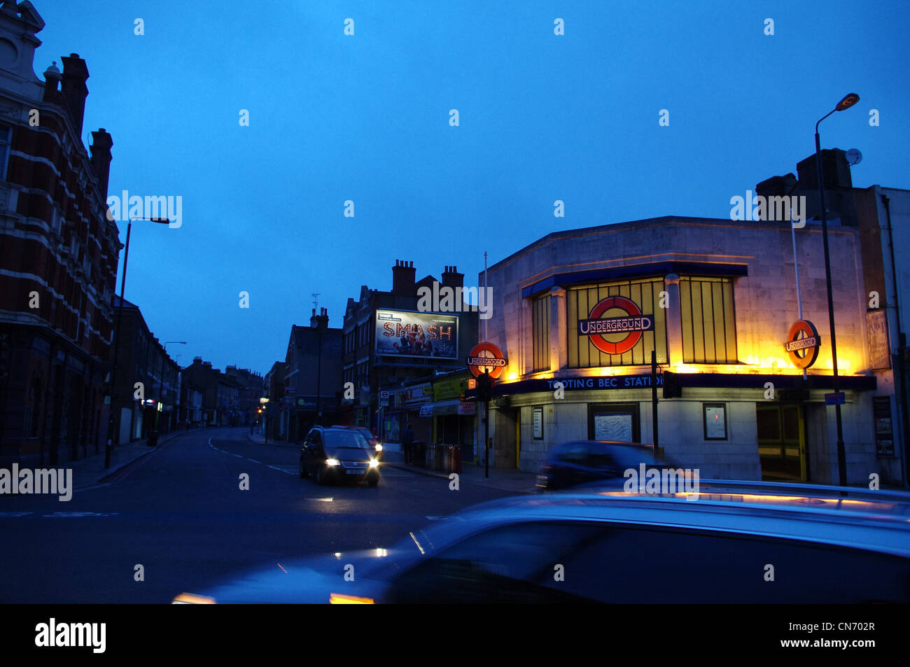 Tooting Bec tube station, South London - Stock Image