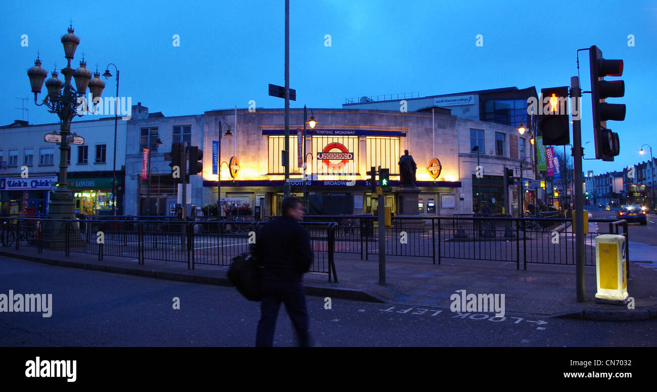 Tooting Broadway tube station, South London - Stock Image