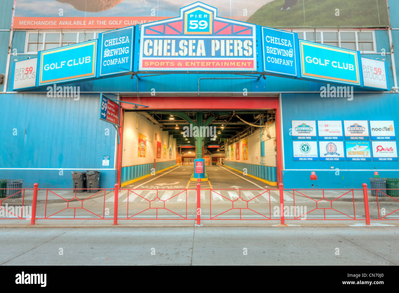 Chelsea piers new york city stock photos chelsea piers for Ny city parking garages