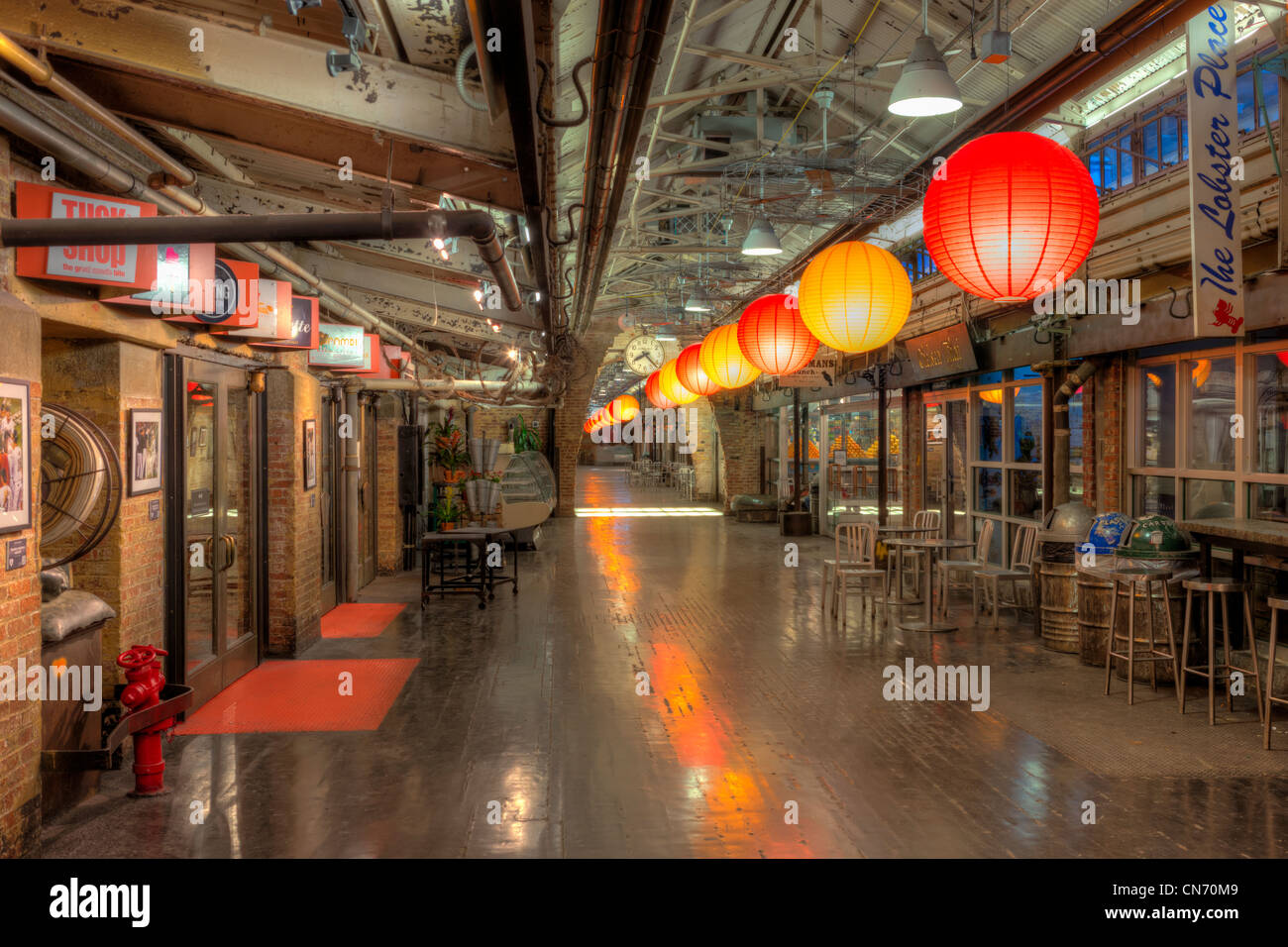 The Interior Of Chelsea Market In New York City Stock Photo