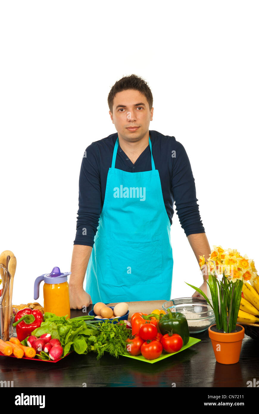 Male Chef Fruits Vegetables In Stock Photos & Male Chef Fruits ...