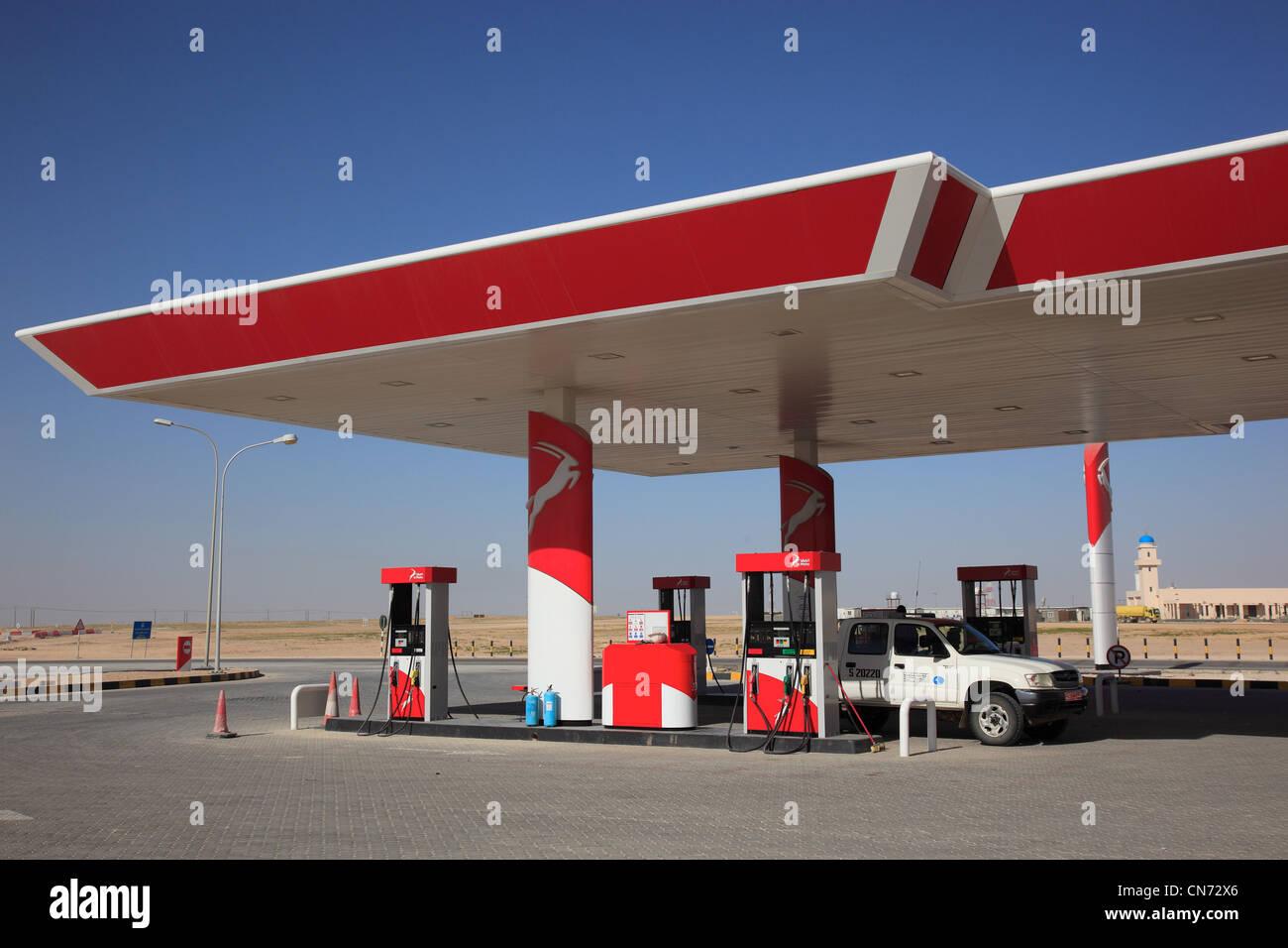 Al Maha Tankstelle ( Mineralölfirma in Oman ) - Stock Image