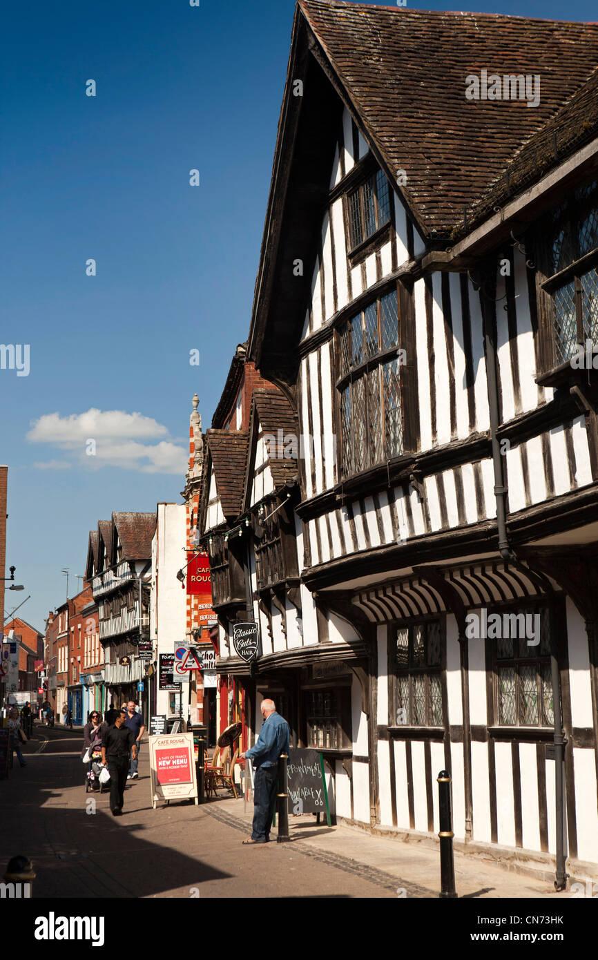 UK, England, Worcestershire, Worcester, Friar Street, The Greyfriars, Tudor merchant's house - Stock Image