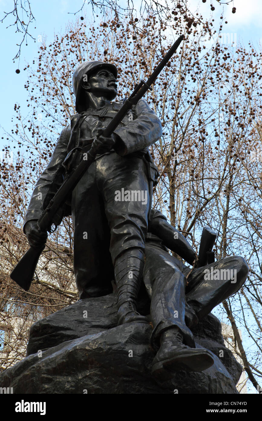 Memorial to the contribution of the Royal Marines in the South African War (1899 - 1902) on the Mall in London, - Stock Image