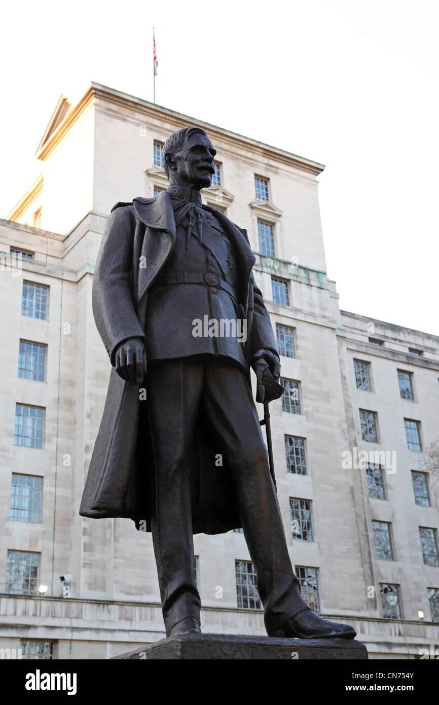 Statue of Hugh Trenchard (1873 - 1956) in London, England. Stock Photo