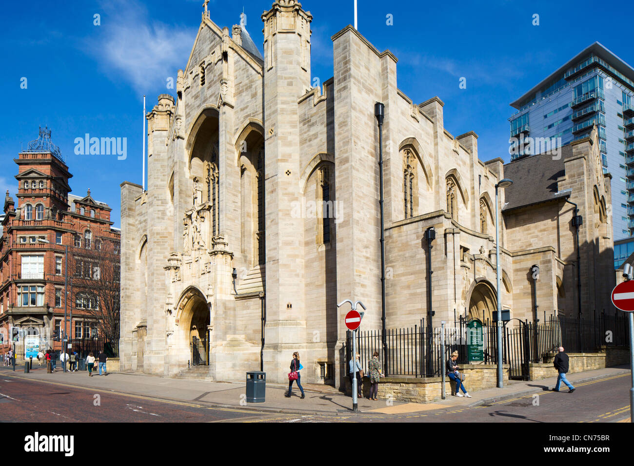 Leeds Roman Catholic Cathedral (Saint Anne's Cathedral), Leeds, West Yorkshire, England - Stock Image