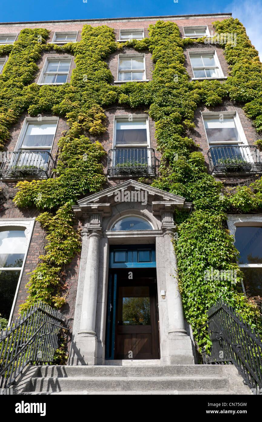 17 St Stephen's Green, Dublin home of the Kildare Street Club - Stock Image