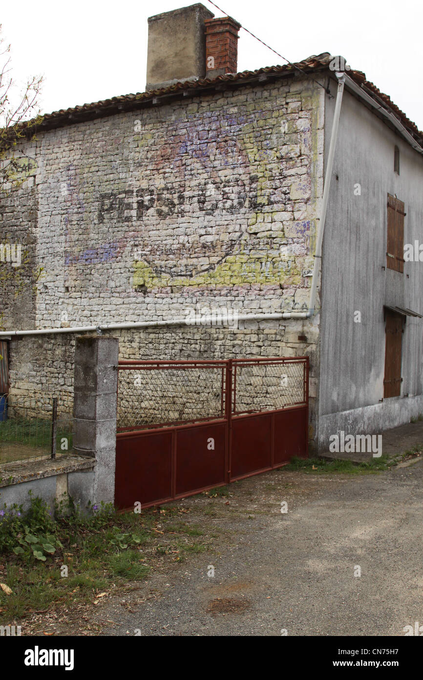 Ghost adverts in France - Stock Image
