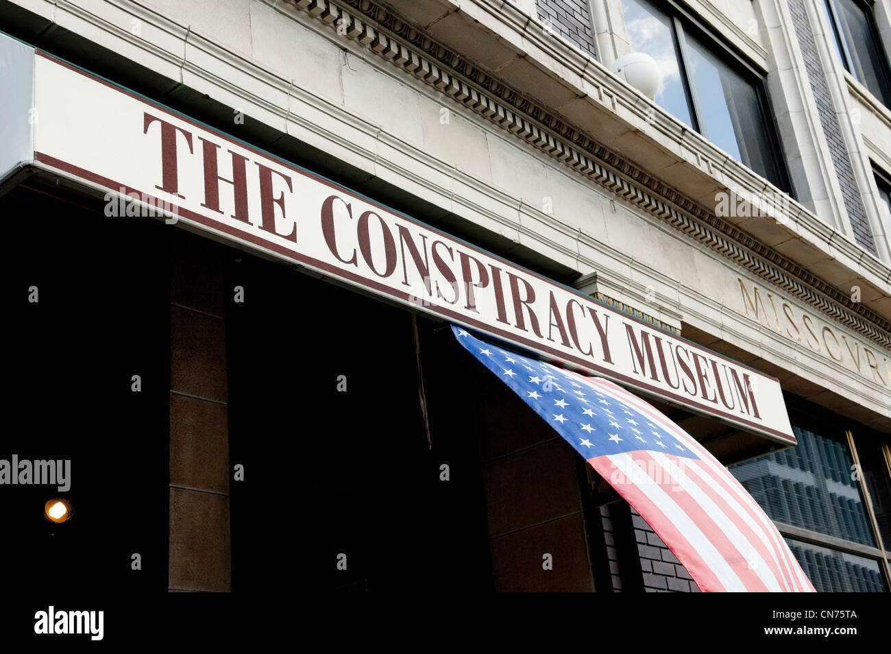 The Conspiracy Museum in Dallas, Texas - Stock Image