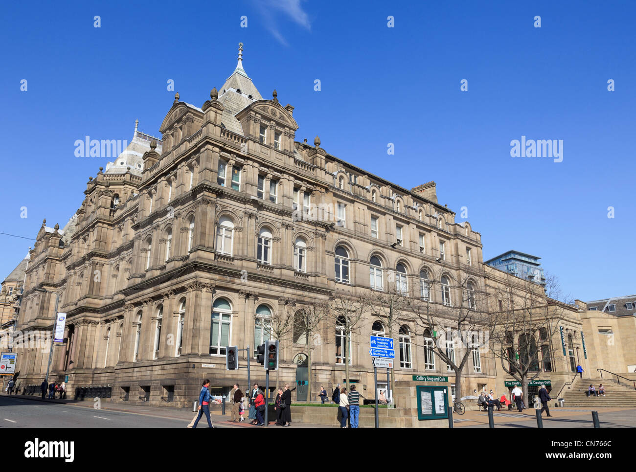 Central Library and Art Gallery building. Calverley Street, Leeds, West Yorkshire, England, UK. - Stock Image