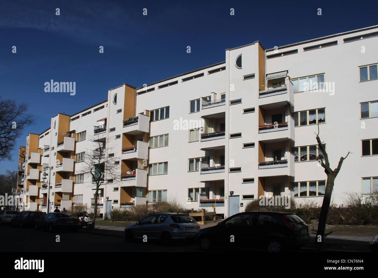 Bauhaus Pankow berlin modernism housing estate stock photos berlin modernism