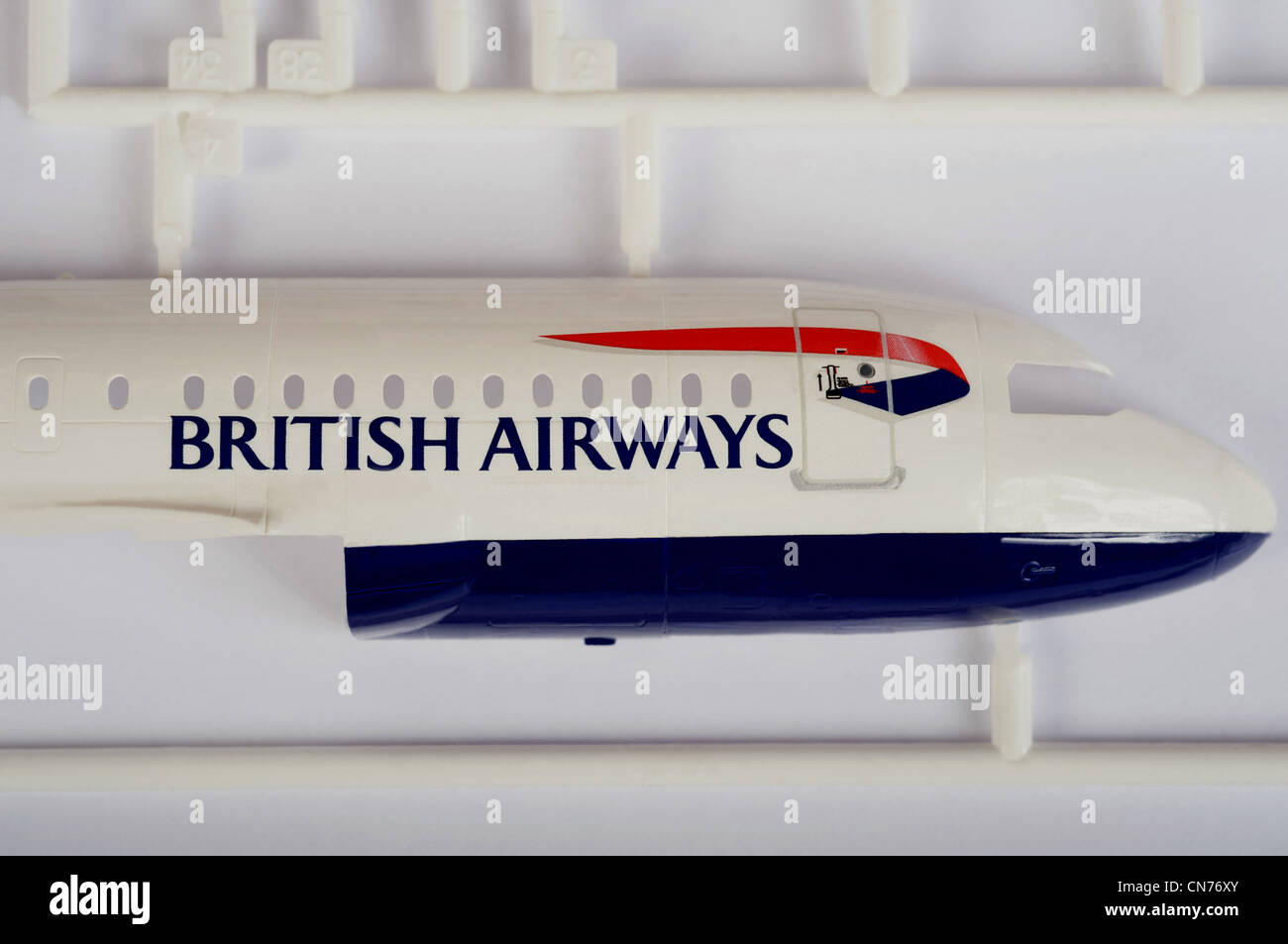Scale model of a British Airways Airbus A319 airliner - Stock Image