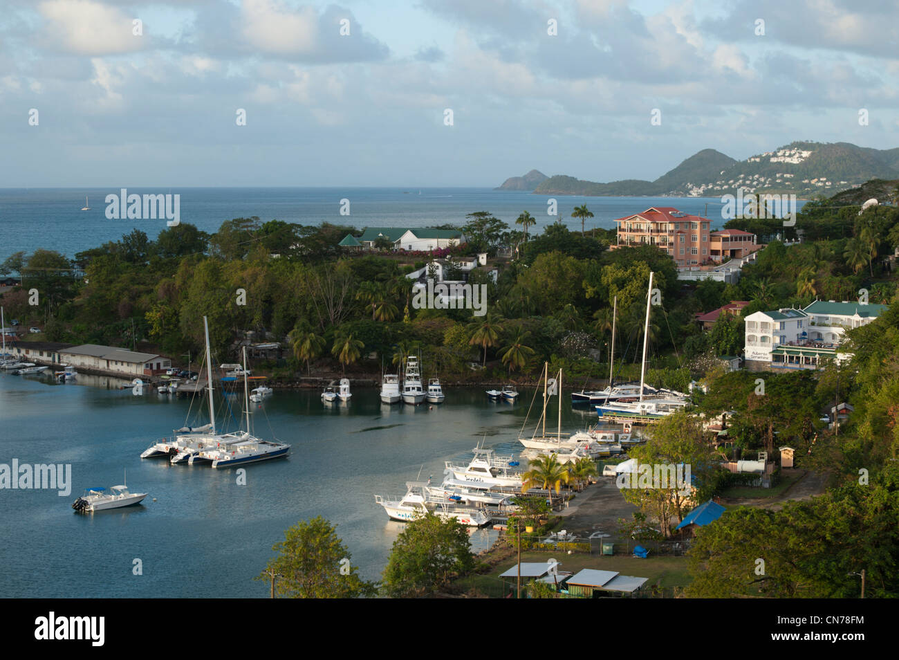 View over the harbour, Castries, St. Lucia - Stock Image