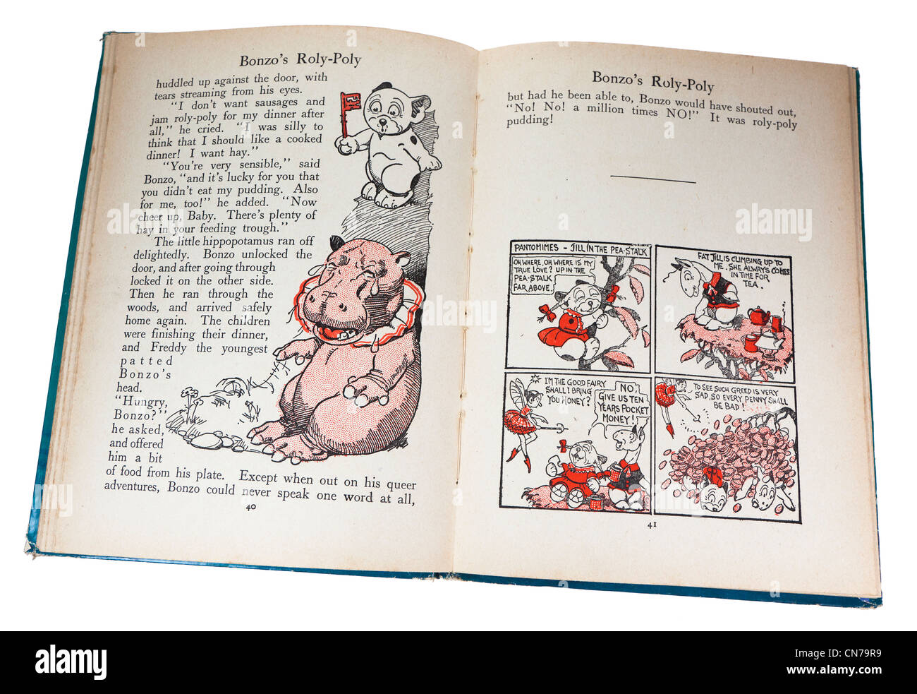 Illustrated story from children's Bonzo's Book of Stories published in 1930, UK - Stock Image