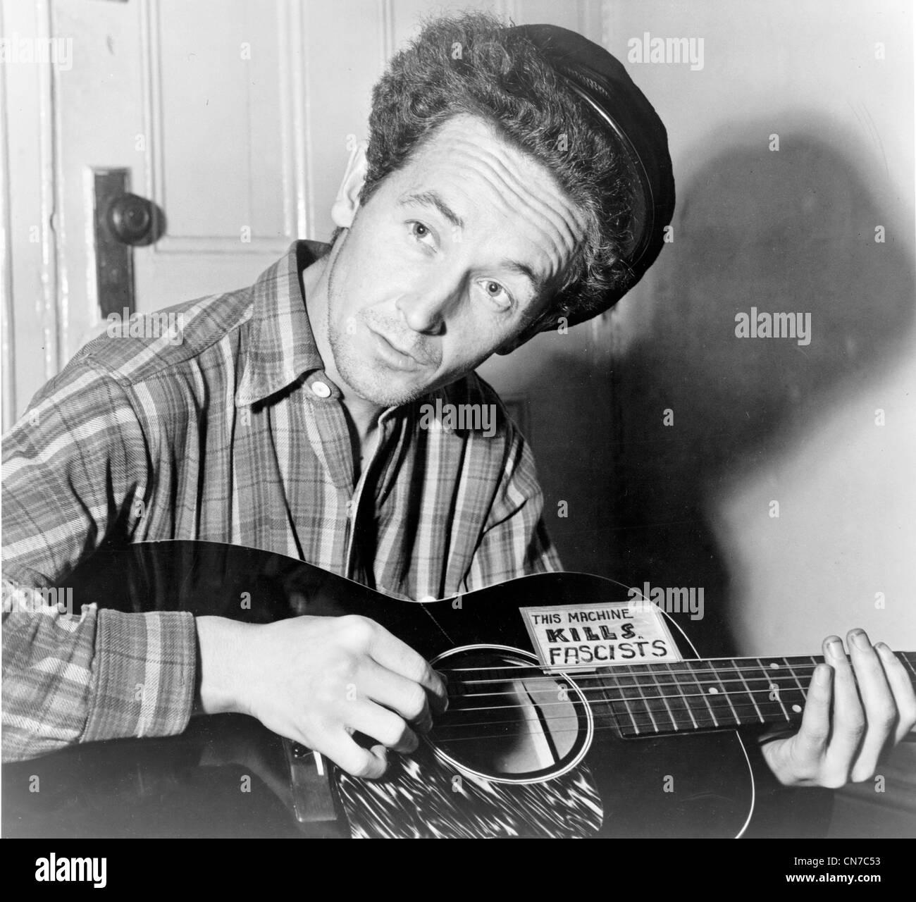 Woody Guthrie, Woodrow Wilson 'Woody' Guthrie American singer. - Stock Image