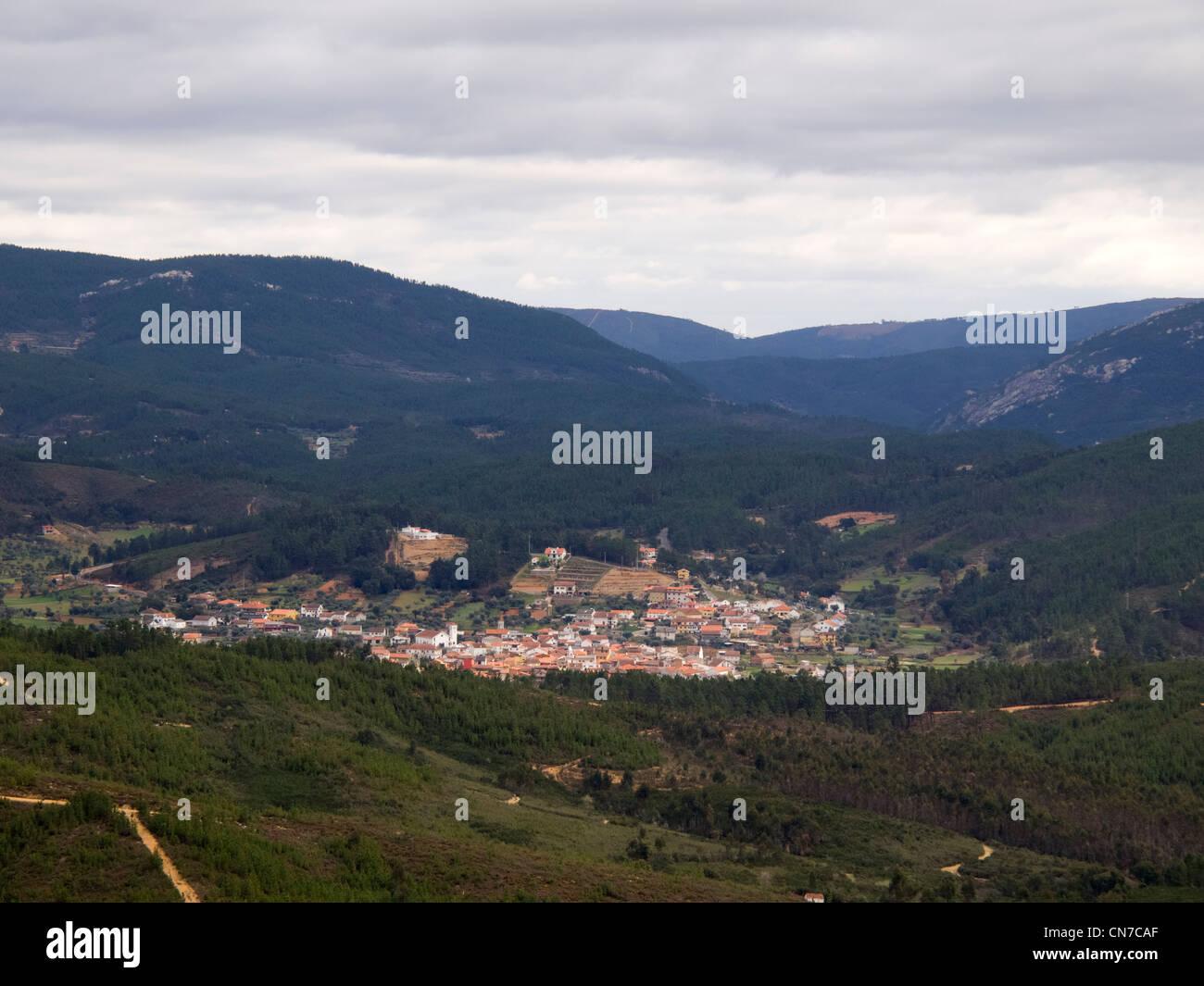View of Janeiro de Cima village, central Portugal - Stock Image