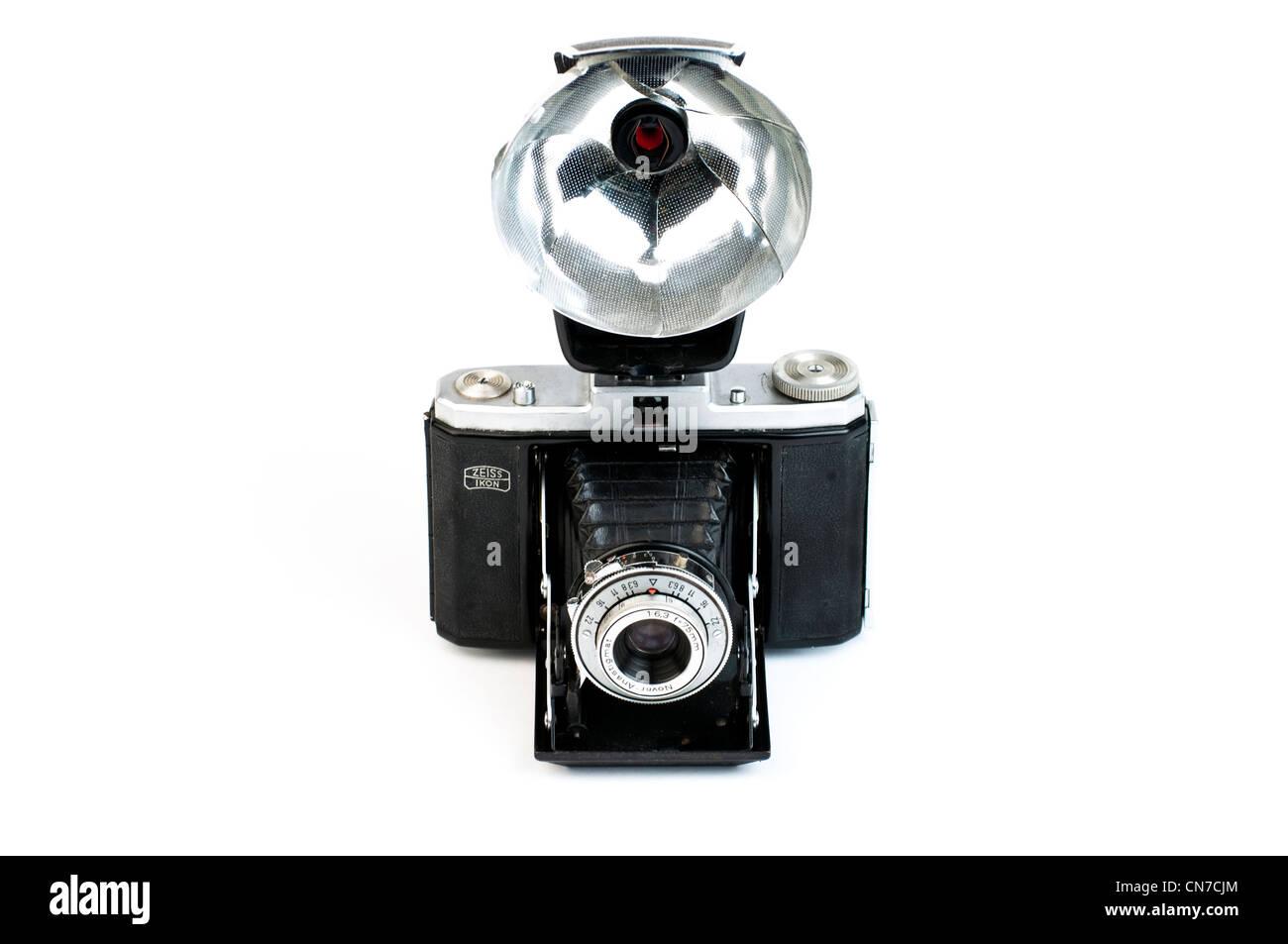 Zeiss Ikon Nettar II vintage folding camera. - Stock Image
