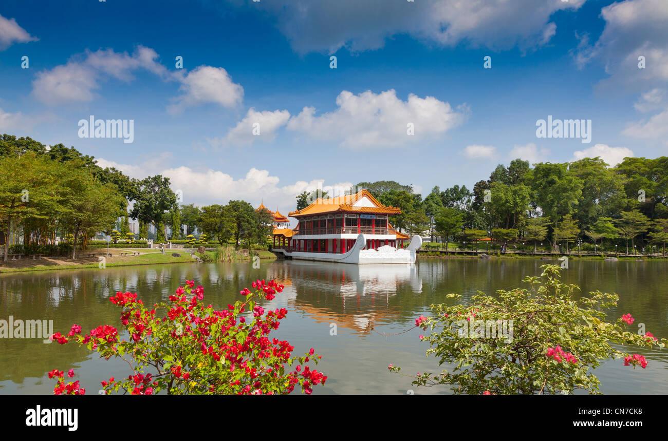 Singapore Chinese Garden Floating Restaurant Stock Photo Alamy